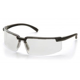 Pyramex Safety - Surveyor - Black Frame/Clear Anti-Fog Lens Polycarbonate Safety Glasses - 12 / BX