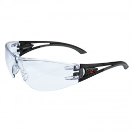 Radians Optima - Clear Lens Safety Glasses Frameless Style Black Color - 12 Pairs / Box