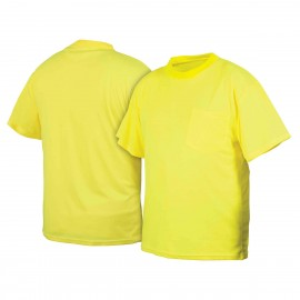 Pyramex Lumen X Hi-Vis Lime T-Shirt No Reflective Tape-Size 3X Large