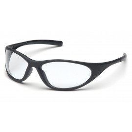 Pyramex Safety - Zone II - Matte Black Frame/Clear Lens Polycarbonate Safety Glasses - 12 / BX