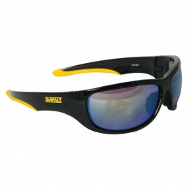 DEWALT Dominator - Yellow Mirror Lens Safety Glasses Full Frame Style Black Color - 12 Pairs / Box