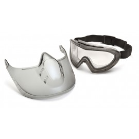 Pyramex Safety - Capstone - Clear Anti Fog Dual Lens with Clear Shield Polycarbonate Safety Glasses - 1 / EA