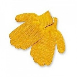 Orange Honey Grip String Knit Gloves