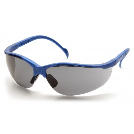 Pyramex Safety - Venture II - Metallic Blue Frame/Gray Lens Polycarbonate Safety Glasses - 12 / BX
