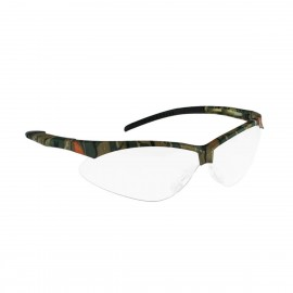 Radians Rad-Apocalypse - Clear Anti-Fog Lens - Camo Frame Safety Glasses Half Frame Style Camo Color - 12 Pairs / Box