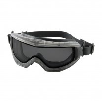 Reaction - Indirect Vent Goggle Gray Double Lens, Anti-Scratch/Anti-Fog Neoprene Strap