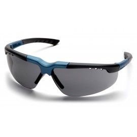 Pyramex Safety - Reatta - Blue-Charcoal Frame/Gray Lens Polycarbonate Safety Glasses - 12 / BX