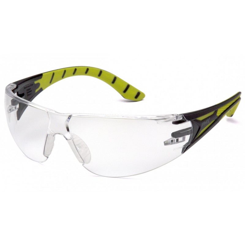Pyramex Endeavor Plus Safety Glasses Clear Lens Green Frame - 12 per Box