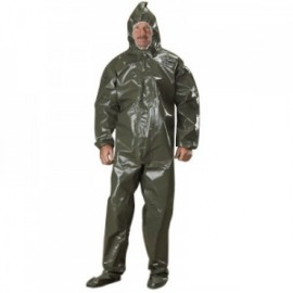 Tychem LV Coveralls with Attached Boots, Hood and Elastic Wrists/Face - Taped Seams