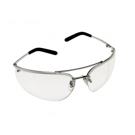 3M™ Metaliks™ Protective Eyewear 15170-10000-20 Clear Anti-Fog Lens, Polished Metal Frame 20 EA/Case