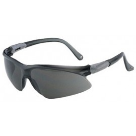 Jackson Safety Visio Safety Glass-Silver Temple, Smoke Lens 12 Pairs