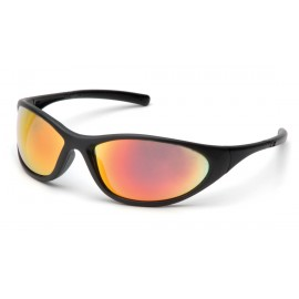 Pyramex Safety - Zone II - Matte Black Frame/Ice Orange Mirror Lens Polycarbonate Safety Glasses - 12 / BX