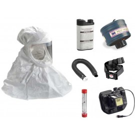 Tychem QC Hood Powered Air Purifying Respirator System - with Lithium Battery