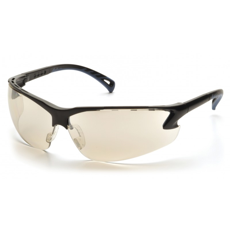 Pyramex Safety - Venture 3 - Black Frame/Indoor/Outdoor Mirror Lens Polycarbonate Safety Glasses - 12 / BX
