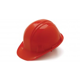 Pyramex Hard Hats Red-Standard Shell 6 Pt- Snap Lock Suspension (1 Case of 16)