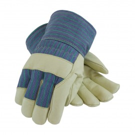 Leather Palm Fabric Back 3M Thinsulate Line Glove - Safety Cuff