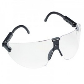 3M™ Lexa™ Protective Eyewear 15200-00000-20 Clear Anti-Fog Lens, Black Temple, Medium (Case of 20)