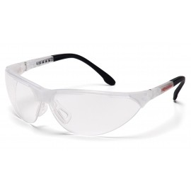 Pyramex Safety - Rendezvous - Crystal Clear Frame/Clear Anti-Fog Lens Polycarbonate Safety Glasses - 12 / BX