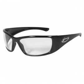 Radians Vengeance - Clear - Black Frame Safety Glasses  Style  Color - 12 Pairs / Box