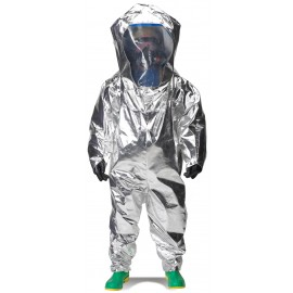 Lakeland 80655W Interceptor Certified Encapsulated Suit - Rear Entry - WideView Face Shield Color Silver
