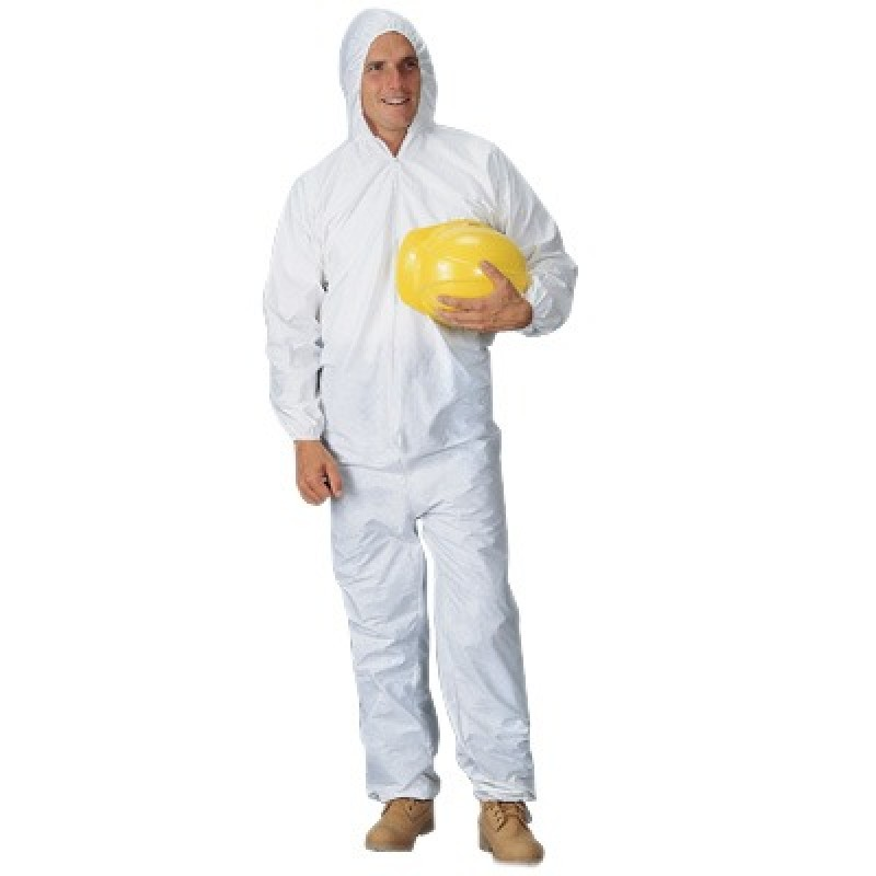 Pyrolon Plus 2 Disposable Coveralls with Attached Hood,  Elastic Wrists and Ankles (25 Per Case)
