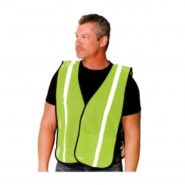 PIP Vests Polyester Non-Ansi One Pocket Mesh Safety Vest Hook and Loop closure One Size - 50 / Box