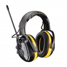 PIP React Electronic Ear Muff with Headband Adjustment, AM/FM Radio and Active Listening - NRR 24  Black Color One Size - 1 PR