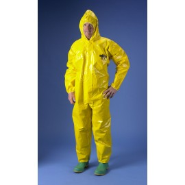ChemMax 4 Coverall - Attached Hood - Yellow