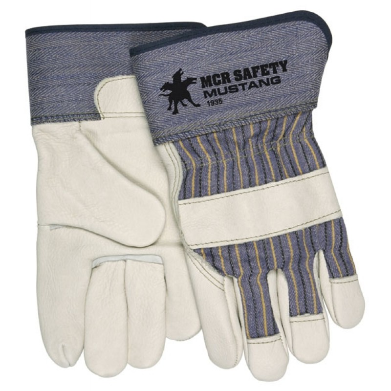 MCR Mustang Grain Leather Palm Work Gloves 12 Pairs