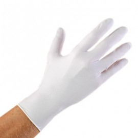 White Nitrile Exam Gloves