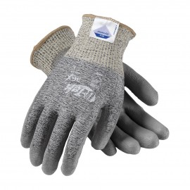 G-Tek 3GX Seamless Knit Dyneema Diamond / Polyester / Spandex Glove with Polyurethane Coated Smooth Grip on Palm & Fingers