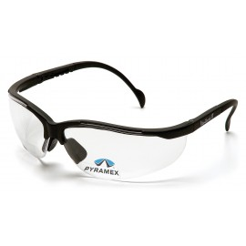 Pyramex Safety - V2 Readers - Black Frame/Clear + 3.0 Lens Polycarbonate Safety Glasses - 6 / BX