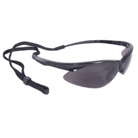 Radians Rad-Apocalypse - Smoke Lens Safety Glasses Half Frame Style Black Color - 12 Pairs / Box