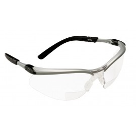 3M™ BX™ Reader Protective Eyewear 11376-00000-20, Clear Lens, Silver Frame, +2.5 Diopter 20 EA/Case