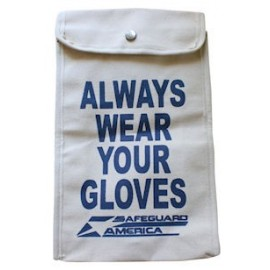 "15"" Canvas Glove Bag - for Rubber Insulated Gloves"