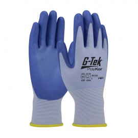 G-Tek PolyKor 16-318 Seamless Knit Work Glove Blue Color 12/Pairs