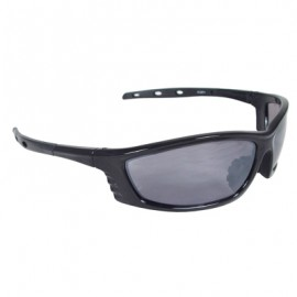 Radians Chaos Safety Glasses - Black Frame, Silver Mirror Lens