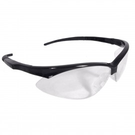 Radians Rad-Apocalypse - Clear Lens Safety Glasses Half Frame Style Black Color - 12 Pairs / Box