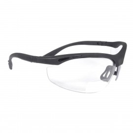 Radians Cheaters - Clear 2.0 bi-focal Safety Glasses Half Frame Style Black Color - 12 Pairs / Box