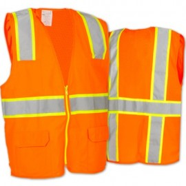 Two-Tone Surveyor's Vest with Mesh Back