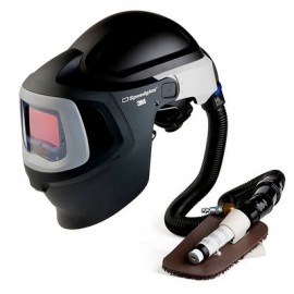 3M™ Speedglas™ Fresh-Air III Supplied Air System with V-100 Vortex Air-Cooling Valve and 3M™ Speedglas™ Welding Helmet 9100MP, 27-5702-20SW, with Hard Hat, SideWindows and Auto-Darkening Filter 9100X, Shades 5, 8-13
