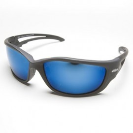 Edge Kazbek Polarized Safety Glasses - Aqua Precision Blue Mirror Lens