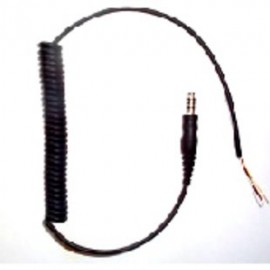 3M Headset Curly Cable Downlead with 4-Pole Molded Plug ML1A | Peltor |  Enviro Safety Products