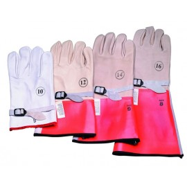 "14"" High Voltage Leather Protector Gloves"