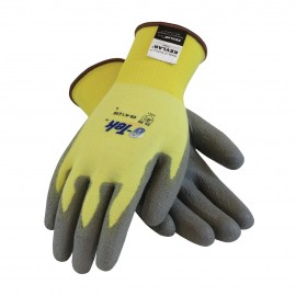PIP G-Tek Seamless Knit Kevlar® / Lycra Glove with Polyurethane Coated Smooth Grip on Palm & Fingers Color Yellow - 12 Pairs