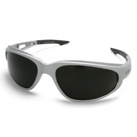 Edge Dakura Safety Glass - Smoke Lens with Silver Frame