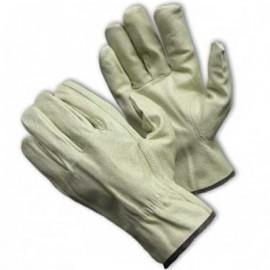 PIP Pigskin Unlined Drivers Gloves White Color 12 Pairs