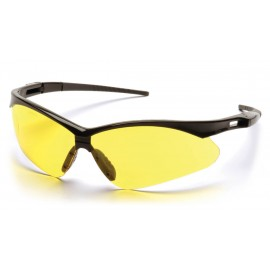 Pyramex Safety - PMXTREME - Black Frame/Amber Lens with Black Cord Polycarbonate Safety Glasses - 12 / BX