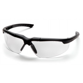 Pyramex Safety - Reatta - Charcoal Frame/Clear Anti-Fog Lens Polycarbonate Safety Glasses - 12 / BX