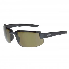 Crossfire ES6 Brown Polarized, Black Frame Safety Glasses Half Frame Style Black Color - 12 Pairs / Box